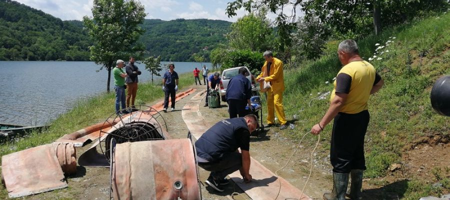 STOP THE WASTE: PROTECTIVE BARRIERS WERE SET UP FOR THE PROTECTION OF THE LAKE ĆELIJE